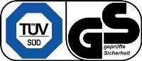 TÜV Süd + GS, geprüfte Sicherheit